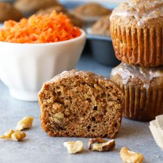 VIDEO: Whole Grain Carrot Cake Muffins with Walnuts