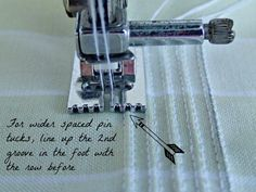 How to sew the most beautiful neat and straight pin tucks using the pin tucks foot. Did you know you can also use it for sewing invisible zippers!