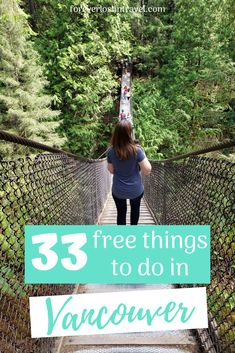 While Vancouver can be known as an expensive city, there are dozens of free things to do in the city if you look hard enough. Here are some of my favorite free (or nearly free) activities in Vancouver, BC. Everything from spending time in Stanley Park, free walking tours, museums and markets, ice skating, movies and more. Theres something for every season  #Vancouver #freeactivitiesVancouver #thingstodoVancouver #VancouverBC #Canada #cityguide #Vancouveractivities #foreverlostintravel #travel