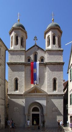 Serbian Orthodox Church St Nicolás in Kotor, Montenegro. Trieste, Albania, Bosnia Y Herzegovina, Serbia And Montenegro, Temple, Religious Architecture, Architecture Design, Travel Log, Southern Europe