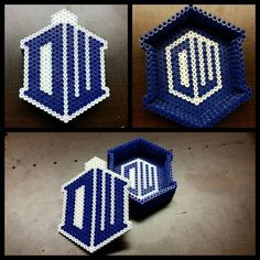 Doctor Who trinket box perler beads by kittymccormick