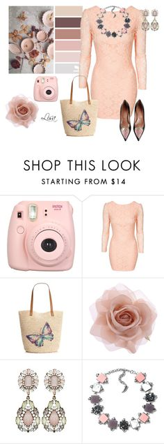 """Peach Dream"" by coolmommy44 ❤ liked on Polyvore featuring Style & Co., Accessorize, RED Valentino, women's clothing, women, female, woman, misses and juniors"