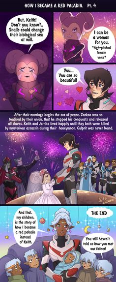 And that's the end! Maybe it wasn't the story Voltron fandom wanted, but totally the one it deserved. Stay tuned! Page 1. Page 2. Page 3.