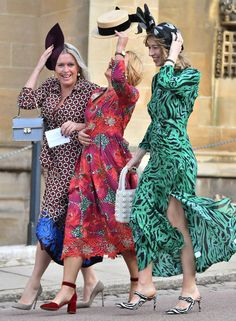Guests attend the wedding of Princess Eugenie of York to Jack Brooksbank at St George's Chapel on October 12 2018 in Windsor England Photo by Pixie Geldof, Flowing Dresses, Day Dresses, Nice Dresses, Beautiful Dresses, Beauty And Fashion, Royal Fashion, Fashion Hats, Pippa Middleton
