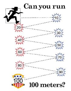 100th Day of School poster in fun 100 meter run design