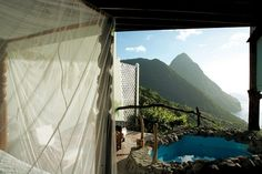 #2-Ladera Resort  St Lucia, Caribbean  St Lucia-  http://unforgettablehoneymoonsblog.com/2012/07/18/top-10-honeymoon-destinations/