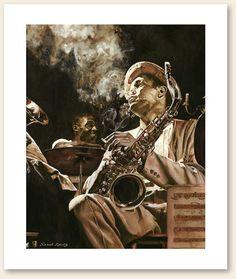 Between Sets Portrait Jazz by SarahKantz
