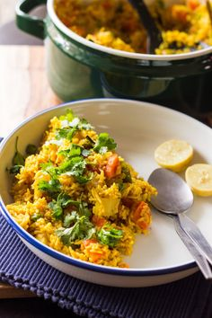 A one pot rice dish that is hearty, fragrant with spices full of vegetables - that's Tehri or Taheri for you! My version is cooked in mustard oil which adds so much flavour; and a bunch of spices. This one pot rice dish hails from the Northern Indian state of Uttar Pradesh and what I love about it is how you can make it your own by using your favourite vegetables, or leftover veggies from your refrigerator!