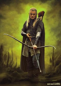 The Hobbit : The Desolation of Smaug -Legolas by Simon Wright Legolas And Thranduil, Nerd Problems, Multimedia Arts, Desolation Of Smaug, Elves And Fairies, New Media Art, Jrr Tolkien, Book Show, Middle Earth