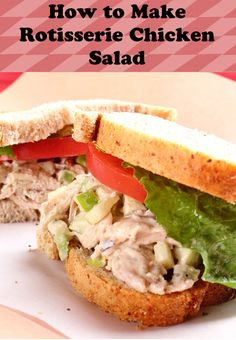 This rotisserie chicken salad recipe is quick and easy! Money saving tip: see if your grocery sells half price rotisserie chickens after a certain time.
