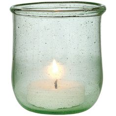 Small Light Green Recycled Glass Candle Holder (350 RUB) ❤ liked on Polyvore featuring home, home decor, candles & candleholders, fillers, candles, decor, accessories, glass home decor, glass candle holders and mint green home decor