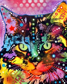 How have I never discovered Dean Russo paintings before? Reminds me of Lisa Frank :)  This looks just like Frieda!