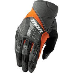 Motocross Gloves, Goalie Gloves, Bike Gloves, Motorcycle Gloves, Motorcycle Outfit, Thor Mx, Mtb Accessories, Orange Gloves, Moto Cross
