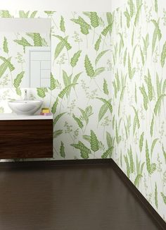 Våtrumstapet Forbo Onyx African Palm 23647, Rullvara - Bredd 2 m: