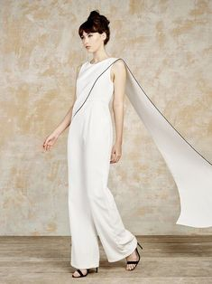 White Jumpsuit with Train from House Ollichon @houseofollichon