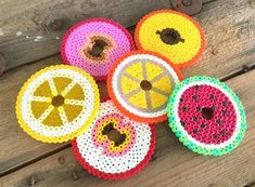 protect your summer glasses from insects with fruit slice bead rounds