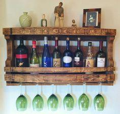 Rustic Wine Rack, Reclaimed Napa Valley Wine Barrel Staves, Primitive, Handmade Wine Rack