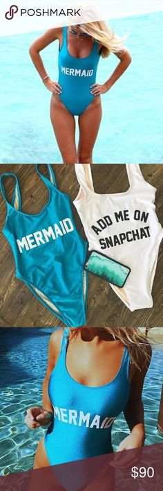 Mermaid Private Party Swimsuit Never worn. Mermaid. Blue color. Small/Medium. No trades Private party Private Party Swim One Pieces