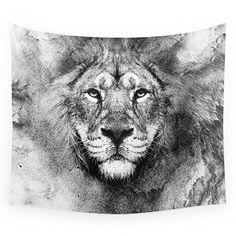 "Society6 Lion Black And White Wall Tapestry Medium: 68"" x 80"" Society6 http://www.amazon.com/dp/B017OMF3WG/ref=cm_sw_r_pi_dp_.S48wb1GAA4M6"