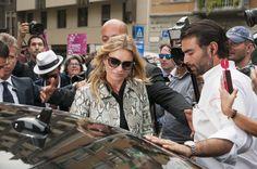 Kate Moss @ Gucci show #mfw #milanfashionweek #gucci