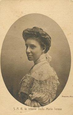 Maria Teresa, infanta de España. Hija segundogenita de Alfonso XII y Maria Cristina de Austria.
