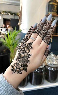 Black Mehndi Designs, Finger Mehendi Designs, Indian Henna Designs, Mehndi Designs For Fingers, Wedding Mehndi Designs, Unique Mehndi Designs, Mehndi Design Pictures, Beautiful Mehndi Design, Latest Mehndi Designs