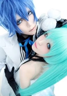 Miku and Kaito cosplay, Vocaloid