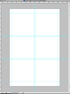 Setting up a digital comic book page.