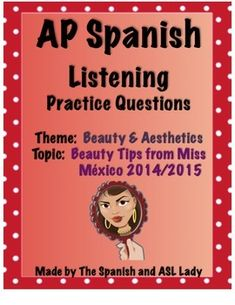 Miss Mexico gives Beauty tips in Spanish in an authentic interview | AP Spanish Test Listening | Test Prep |Beauty & Aesthetics