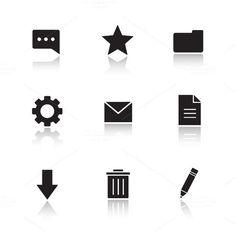 File manager icons. Vector