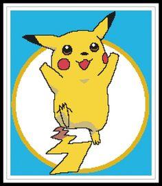 Gráfico para punto de cruz de pikachu.
