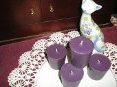 PLUM APRICOT Scented Soy Votives, Homemade, Strongly Scented