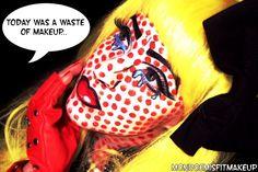 Roy Lichtenstein Crying Girl Makeup by Monroe Misfit Makeup (She's amazing! Pop Art Makeup, Fx Makeup, Crazy Makeup, Makeup Geek, Halloween Makeup Looks, Halloween Make Up, Halloween Costumes, Halloween 2013, Halloween Ideas