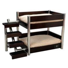 Espresso Metropolitan Double Pet Bed - Frontgate...cool dog bed