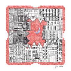 Arts Graphiques | Julie Zeitline | Autour du monde | Tirage d'art en série limitée sur L'oeil ouvert