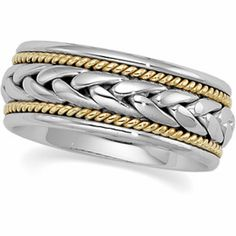 8 mm Two-Tone Hand-Woven Comfort-Fit Band   $725   Cut Rate Diamonds