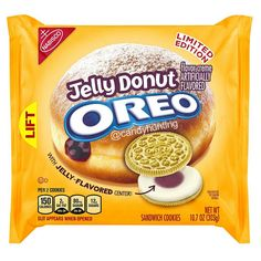 Here's a look at the updated packaging for the Jelly Donut Oreos to be released later this year!