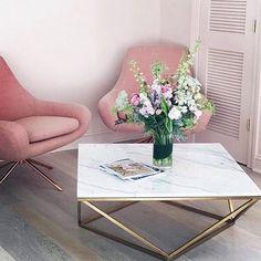 @em_henderson #WhiteMarble ✔️ #Brass ✔️ #BlushPink ✔️ #FreshBlooms ✔️