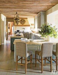 """perfect """"new"""" layout for my kitchen/dining area.   Kara Childress Renovates a Texas Mansion"""