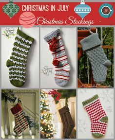 Christmas in July! Crochet Christmas Stocking patterns
