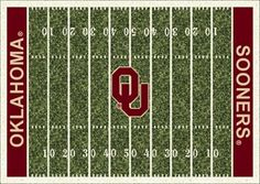Oklahoma Sooners Home Field Rug in Oklahoma Sooners (End Zone Color: Red) from ACWG