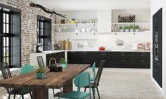 Melinga Svart Kjøkken Decor, Furniture, Table, Home Decor, Kitchen, Office Desk, Desk