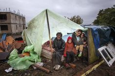 A Roma family in Eforie Sud, Romania in September of last year. The Roma are Europe's largest minority.