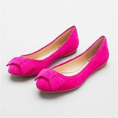 Magenta flats, wow!  ( I looked at these and they almost if not identically macth the dress)