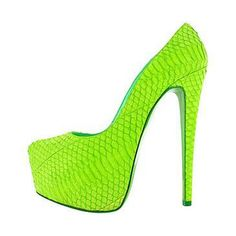 Trendy High Heels For You: Picture Descriptionwow, neon green Christian Louboutin Green High Heels, Green Pumps, Green Shoes, Crazy Shoes, Me Too Shoes, Fab Shoes, Women's Shoes, High Heel Pumps, Pumps Heels