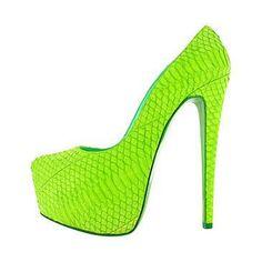 wow, neon green Christian Louboutin