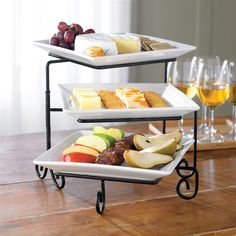antipasto squares Buffet Server Set (I bought this at xmas, great for sweet or savory treats) Kitchen Items, Kitchen Gadgets, Kitchen Dining, Kitchen Tools, Serving Plates, Serving Dishes, Fingers Food, Kitchen Essentials List, Tiered Server