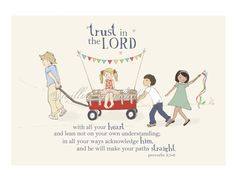 Print for  Shelby's Room  Trust In The LORD  Scripture Art Print  Children by willowofwonder, $20.00