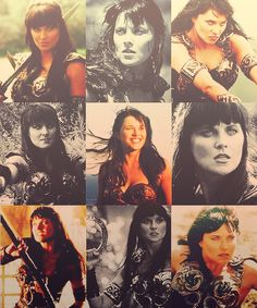 Xena Warrior Princess. The many faces of Xena.-I want a full size of this for my room.