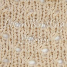 How to do the Staggered Eyelet Stitch on the Knitting Loom By This Moment is Good.